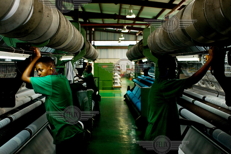 The A to Z textile factory in Arusha. It is the biggest factory in Africa to produce nets, which help people protect themselves from mosquitoes which spread malaria.