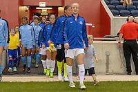 Chicago, IL - Wednesday Sept. 07, 2016: Becky Sauerbrunn, player escort during a regular season National Women's Soccer League (NWSL) match between the Chicago Red Stars and FC Kansas City at Toyota Park.