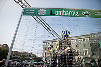 Tsgabu Grmay  (ETH/Mitchelton-Scott) signing on<br /> <br /> 113th Il Lombardia 2019 (1.UWT)<br /> 1 day race from Bergamo to Como (ITA/243km)<br /> <br /> ©kramon
