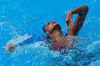 BARRANQUILLA - COLOMBIA, 31-07-2018:  Kyra Hoevertsz, de Aruba, durante su participación en la prueba Solo Libre de Nado Sincronizado, en el Complejo Acuático Distrital Eduardo Movilla, como parte de los Juegos Centroamericanos y del Caribe Barranquilla 2018. / Kyra Hoevertsz, Aruba, during her participation in the Free Solo Synchronized Swimming,test, in the Eduardo Movilla District Aquatic Complex, as a part of the Central American and Caribbean Sports Games Barranquilla 2018. Photos: VizzorImage / Cont.