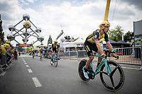 Tony Martin (DEU/Jumbo-Visma) finishing the morning course reconnaissance <br /> <br /> Stage 2 (TTT): Brussels to Brussels(BEL/28km) <br /> 106th Tour de France 2019 (2.UWT)<br /> <br /> ©kramon