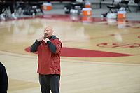 Arkansas Thursday, Feb. 11, 2021, Mississippi State during the first half of play in Bud Walton Arena. Visit nwaonline.com/210212Daily/ for today's photo gallery. <br /> (NWA Democrat-Gazette/Andy Shupe)