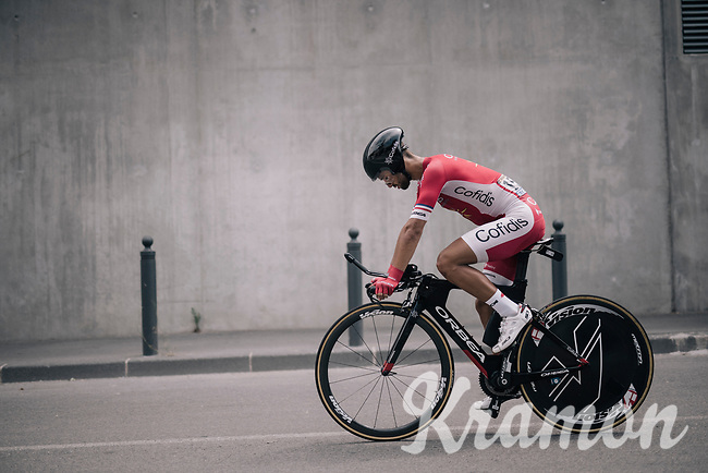 Nacer Bouhanni (FRA/Cofidis) after finishing his TT<br /> <br /> 104th Tour de France 2017<br /> Stage 20 (ITT) - Marseille › Marseille (23km)