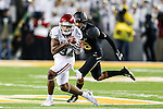 Oklahoma Sooners wide receiver Sterling Shepard (3) in action during the game between the Oklahoma Sooners  and the Baylor Bears at the McLane Stadium in Waco, Texas.