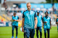 Mike van der Hoorn of Swansea City during the Pre Season friendly match between Swansea City and Rovers played at the Memorial Stadium, Bristol on July 23rd 2016