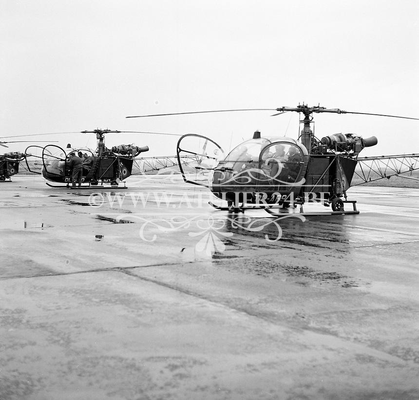 Oktober 1974. Sud Aviation SA313B-C Alouette II helicopter OL-A69.