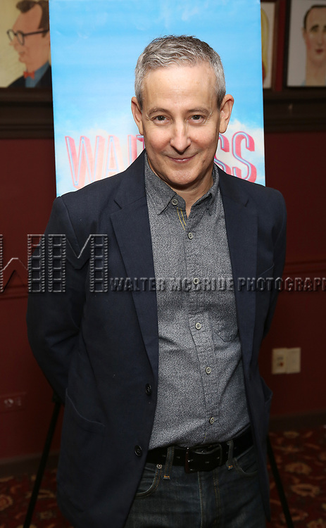 """Eddie Jamison attends the photocall for Joey McIntyre and Eddie Jamison join the cast of Broadway's """"Waitress"""" at Sardi's on January 29, 2019 in New York City."""