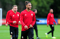 Tyler Roberts of Wales during the Wales Training Session at The Vale Resort in Cardiff, Wales, UK. Monday 07 October 2019