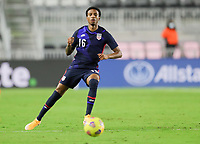 FORT LAUDERDALE, FL - DECEMBER 09: Kyle Duncan #16 of the United States moves to the ball during a game between El Salvador and USMNT at Inter Miami CF Stadium on December 09, 2020 in Fort Lauderdale, Florida.