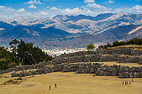 Ruins of Sacsayhuaman, magnificent Inca fortress, which overlooks the city of Cusco, Peru