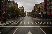 April 18, 2020<br /> New York, New York<br /> Lower East Side<br /> <br /> Looking North up 1st Ave during the time of the cononavirus pandemic.