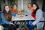 Enjoying the evening in the Ashe Hotel on Saturday, l to r: Leona Stack, Theresa Lee, Cliona Whelan and Ciara O'Connell.