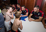 Two young USA rangers fans get autographs from their heroes