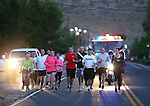 About 50 people participated in a memorial 5K walk and run in honor of the victims of the 2011 IHOP shooting in Carson City, Nev., on Friday, Sept. 6, 2013.  <br /> Photo by Cathleen Allison