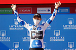 Michael Storer (AUS) Team DSM retains the mountains Polka Dot Jersey at the end of Stage 20 of La Vuelta d'Espana 2021, running 202.2km from Sanxenxo to Mos, Spain. 4th September 2021.    <br /> Picture: Luis Angel Gomez/Photogomezsport | Cyclefile<br /> <br /> All photos usage must carry mandatory copyright credit (© Cyclefile | Luis Angel Gomez/Photogomezsport)