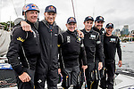 Teams in action during a training session ahead the Extreme Sailing Series Act 8 Final Showdown on 10 December 2014, in Sydney, Australia. Photo by Victor Fraile / Power Sport Images
