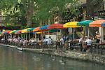 Texas, San Antonio, Alfresco Dining on Riverwalk