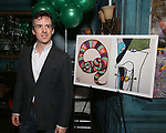 """Craig Wesley Divino attends the Birthday Party Photo Call for the Wheelhouse Theater Company production of Kurt Vonnegut's """"Happy Birthday, Wanda June""""  on October 3, 2018 at Bond 45 Times Square in New York City."""