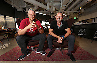 Sept. 20, 2016. I San Diego, CA. USA. | CEO of MindTouch Aaron Fulkerson, right and CTO Steve Bjorg. |Photos by Jamie Scott Lytle. Copyright.