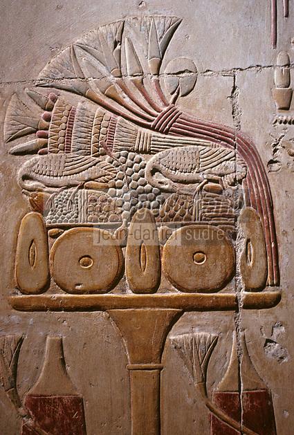 Afrique/Egypte/Abydos: Le temple de Séti  , service du repas