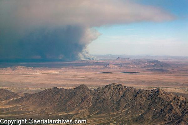 Wildfire near Blythe, Riverside County, California, 2006.