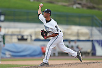West Michigan Michigan Whitecaps pitcher Eduardo Jimenez (29) delivers a pitch to the plate against the Fort Wayne TinCaps during the Midwest League baseball game on April 26, 2017 at Fifth Third Ballpark in Comstock Park, Michigan. West Michigan defeated Fort Wayne 8-2. (Andrew Woolley/Four Seam Images via AP Images)