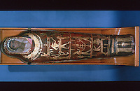 Egyptian Mummies and Coffins:  Body-case of Artemidorus.  Early 2nd century AD.   Trustees of the British Museum.  Reference only.