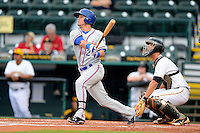 St. Lucie Mets shortstop Matt Reynolds #23 during a game against the Bradenton Marauders on April 12, 2013 at McKechnie Field in Bradenton, Florida.  St. Lucie defeated Bradenton 6-5 in 12 innings.  (Mike Janes/Four Seam Images)