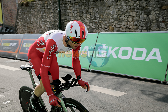 Piet Allegaert (BEL) Cofidis during Stage 3 of Paris-Nice 2021, an individual time trial running 14.4km around Gien, France. 9th March 2021.<br /> Picture: ASO/Fabien Boukla | Cyclefile<br /> <br /> All photos usage must carry mandatory copyright credit (© Cyclefile | ASO/Fabien Boukla)