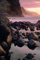 Na Pali Coast from Kee Beach<br /> Haena State Park<br /> Island of Kauai<br /> Hawaii