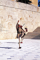 Parliament Soldiers Marching at Unknown Soldier Memorial.  Athens , Greece