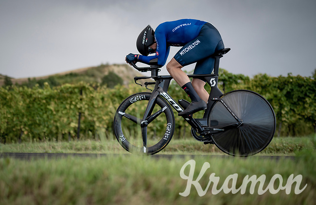 Edoardo Affini (ITA/Mitchelton-Scott)<br /> <br /> Men's Elite Time trial from Imola to Imola (31.7km)<br /> <br /> 87th UCI Road World Championships 2020 - ITT (WC)<br /> <br /> ©kramon
