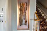 Petrified wood sculpture.