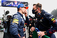 28th August 2021; Spa Francorchamps, Stavelot, Belgium: FIA F1 Grand Prix of Belgium, qualifying sessions;   F1 Grand Prix of Belgium 33 Max Verstappen NED, Red Bull Racing