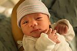 Newborn baby boy first day