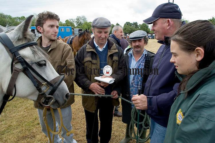 Striking a deal at Spancilhill Horse Fair .Pic Arthur Ellis.