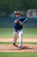 Atlanta Braves pitcher Daysbel Hernandez (67) during a Minor League Extended Spring Training game against the Philadelphia Phillies on April 20, 2018 at Carpenter Complex in Clearwater, Florida.  (Mike Janes/Four Seam Images)