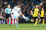 Raphael Varane of Real Madrid in action during the Europe Champions League 2017-18 match between Real Madrid and Borussia Dortmund at Santiago Bernabeu Stadium on 06 December 2017 in Madrid Spain. Photo by Diego Gonzalez / Power Sport Images