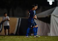 Miami, FL - Tuesday, October 15, 2019:  Sebastian Soto #9, Goal Celebration, Jonathan Lewis #7 during a friendly match between the USMNT U-23 and El Salvador at FIU Soccer Stadium.