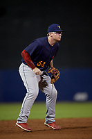State College Spikes third baseman Brylie Ware (53) during a NY-Penn League game against the Mahoning Valley Scrappers on August 29, 2019 at Eastwood Field in Niles, Ohio.  State College defeated Mahoning Valley 8-1.  (Mike Janes/Four Seam Images)