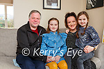 Aoíse O'Sullivan Glenbeigh who has recovered from a brain tumour which was spotted by her optician with her parents Ciara and John Michael and sister Néidín