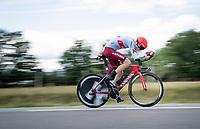 Steff Cras (BEL/Katusha-Alpecin)<br /> <br /> Stage 4 (ITT): Roanne to Roanne (26.1km)<br /> 71st Critérium du Dauphiné 2019 (2.UWT)<br /> <br /> ©kramon