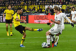 14.02.2020, Signal Iduna Park, Dortmund, GER, 1. BL, Borussia Dortmund vs Eintracht Frankfurt, DFL regulations prohibit any use of photographs as image sequences and/or quasi-video<br /> <br /> im Bild / picture shows / Strafraumszene . Torchance von Achraf Hakimi Mouh (#5, Borussia Dortmund), Martin Hinteregger (#13, Eintracht Frankfurt) (re.)<br /> <br /> Foto © nordphoto/Mauelshagen
