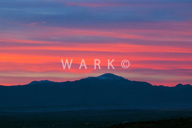 Pikes Peak at  sunset