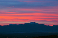 Pikes Peak at  sunset