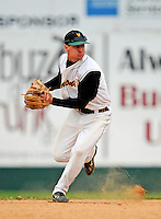 2 May 2008: University of Vermont Catamounts' infielder Brad Currier, a Sophomore from Essex Junction, VT, in action against the Binghamton University Bearcats at Historic Centennial Field in Burlington, Vermont. The Catamounts defeated the Bearcats 6-2 in the first game of their weekend series...Mandatory Photo Credit: Ed Wolfstein Photo