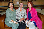 Attending the naugural Ballybunion Arts Festival in the Tinteán Theatre in Ballybunion on Thursday, l to r: Jane Williams (Ballybunion), Fran Beasley (Listowel) and Kim Pinton-Williams (Ballybunion).