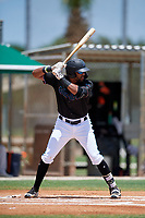 GCL Marlins Lorenzo Hampton (38) at bat during a Gulf Coast League game against the GCL Astros on August 8, 2019 at the Roger Dean Chevrolet Stadium Complex in Jupiter, Florida.  GCL Marlins defeated GCL Astros 5-4.  (Mike Janes/Four Seam Images)