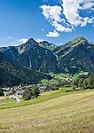 Austria, Vorarlberg, Montafon, St. Gallenkirch: resort at Montafon region with parish church St. Gallus | Oesterreich, Vorarlberg, Montafon, Sankt Gallenkirch: Urlaubssort im Montafon mit Pfarrkirche St. Gallus
