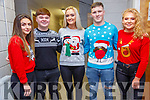 """Beale Lips Zipped: Taking part in the  Lips Zipped event at the Ballybunion Community Centre in  aid of Beale GAA on 28th December were """"The Backstreet Pussys""""  - Maeve Scanlan, David Sheehy, Sarah Jane Carmody, Tommy O'Neill & Niamh Stack."""